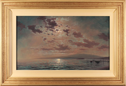 Andrew Grant Kurtis, Original oil painting on panel, Moonlight  Large image. Click to enlarge
