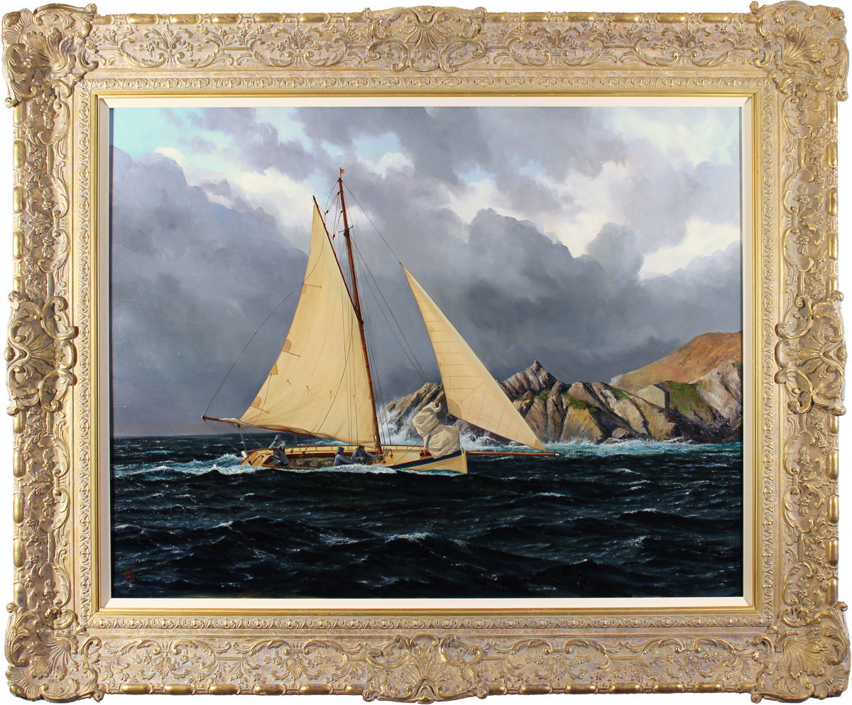 Andrew Stranack Walton, Original oil painting on canvas, Sailing the Sea. Click to enlarge