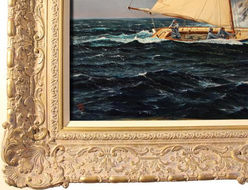 Andrew Stranack Walton, Original oil painting on canvas, Sailing the Sea Signature image. Click to enlarge
