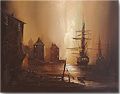 Barry Hilton, Original oil painting on canvas, Harbour Scene