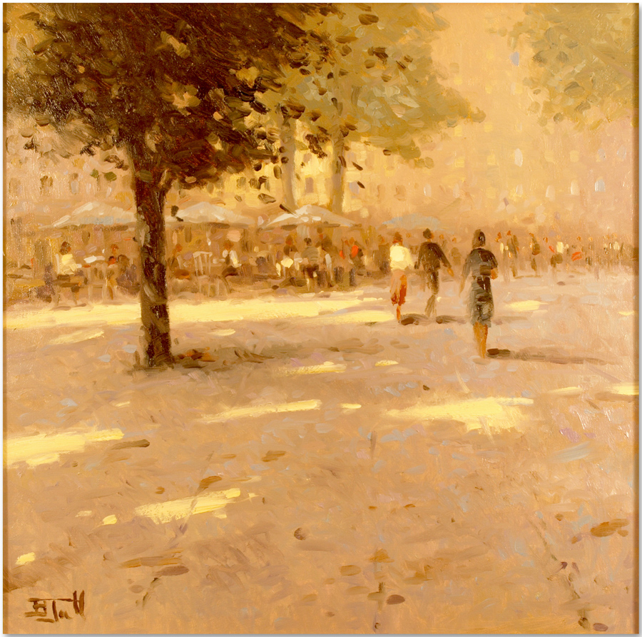 Brian Jull, Original oil painting on canvas, Midday Stroll, click to enlarge