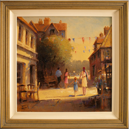 Brian Jull, Original oil painting on canvas, Afternoon Bliss.