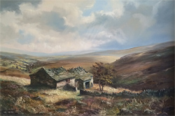 John Corcoran, Original oil painting on canvas, Wuthering Heights