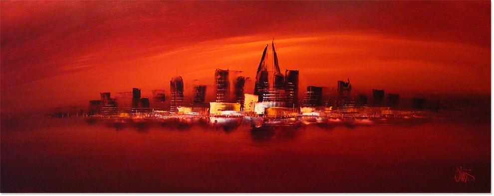 Dennis Wood, Original acrylic painting on canvas, Dubai, click to enlarge