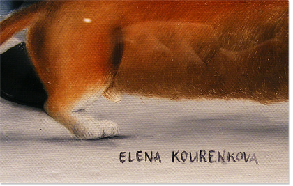 Elena Kourenkova, Original oil painting on canvas, There Is Never Too Much of a Good Thing Signature image. Click to enlarge