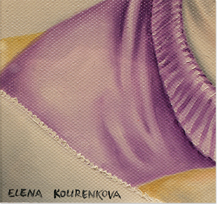 Elena Kourenkova, Original oil painting on panel, My Purpose is to Sit and Be Admired Signature image. Click to enlarge