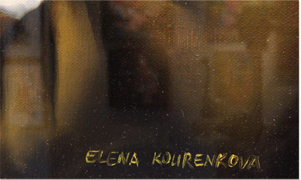 Elena Kourenkova, Original oil painting on panel, I Who Hold All the Aces Signature image. Click to enlarge