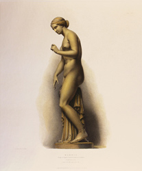 Engraving, Hand coloured restrike engraving, Marble Large image. Click to enlarge