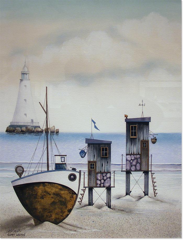 Gary Walton, Watercolour, The Seaside, click to enlarge