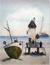 Gary Walton, Watercolour, The Seaside