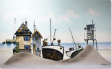 Gary Walton, Watercolour, Ye Olde Boatyard Large image. Click to enlarge