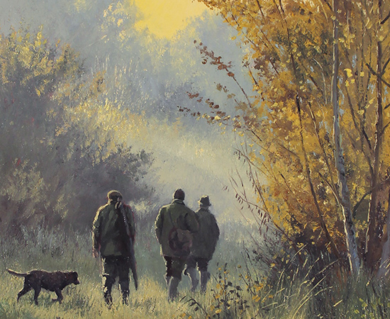 Stephen Hawkins, Country Pursuits, Original oil painting on panel