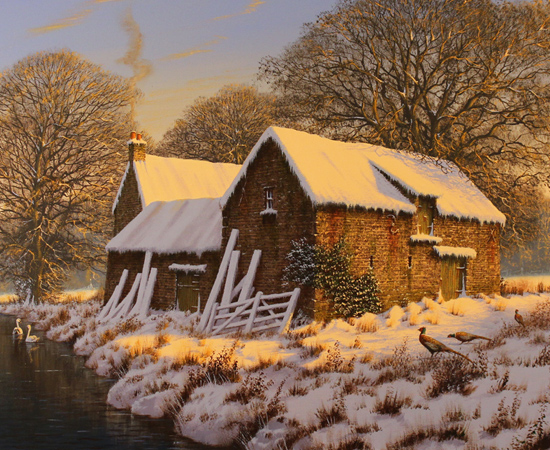 Edward Hersey, First Light, Original oil painting on canvas