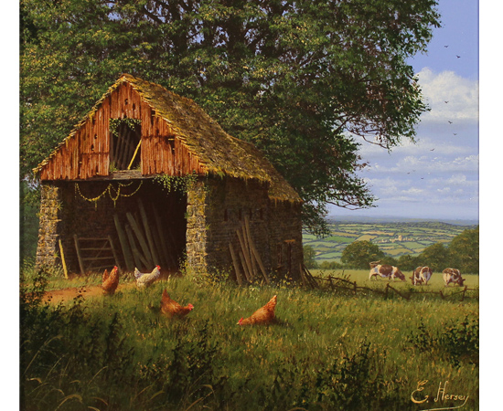 Edward Hersey, Views of the Vale, Original oil painting on canvas