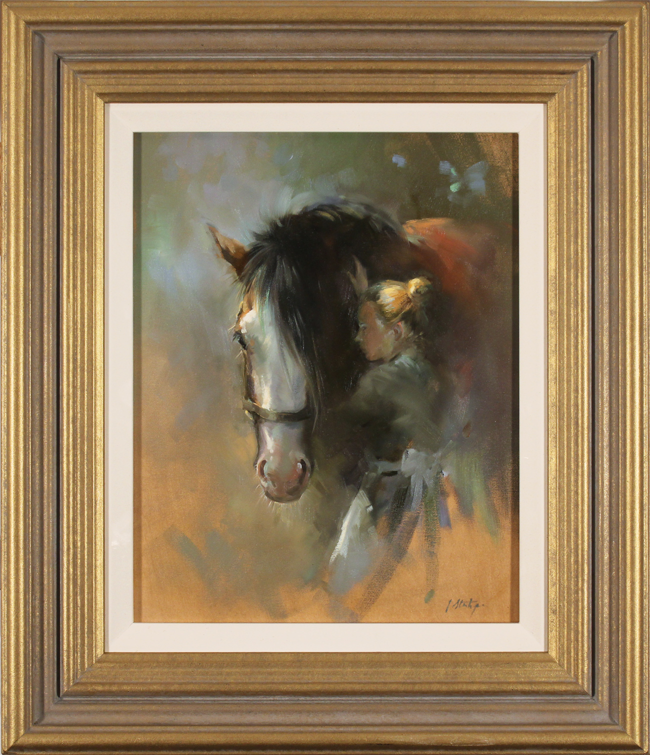 Jacqueline Stanhope, Original oil painting on canvas, My Girl, click to enlarge