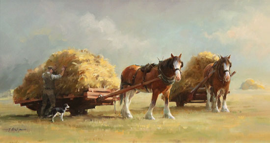 Jacqueline Stanhope, Original oil painting on canvas, The Harvest Without frame image. Click to enlarge