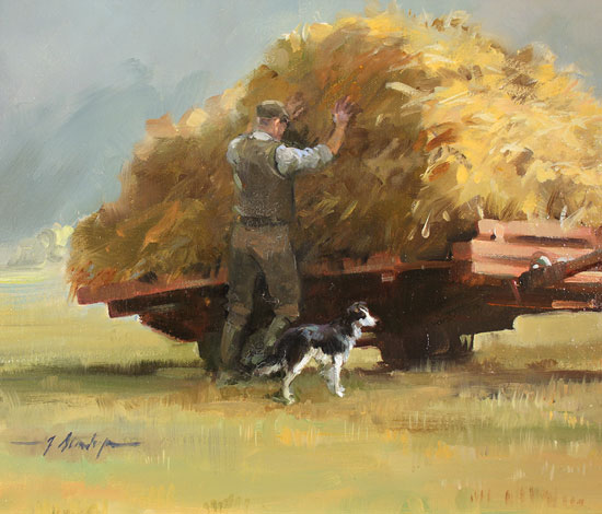 Jacqueline Stanhope, Original oil painting on canvas, The Harvest Signature image. Click to enlarge