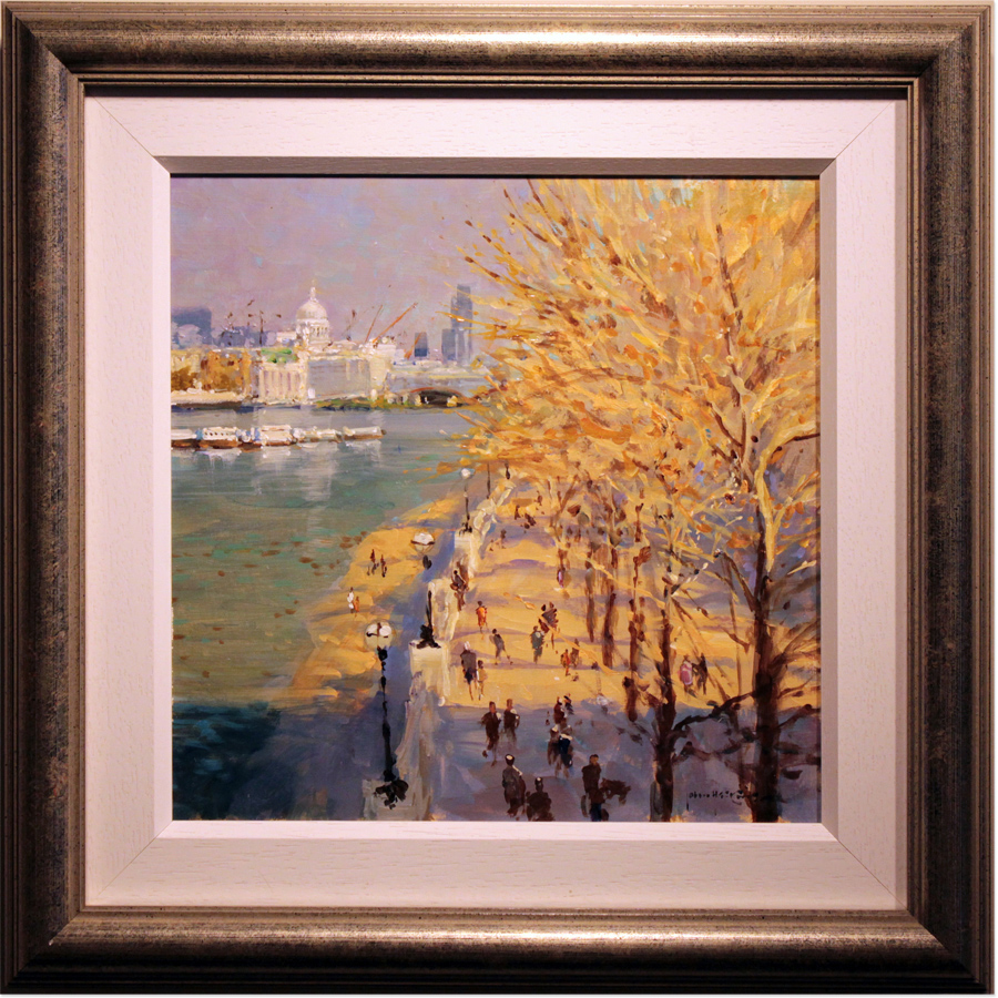 John Haskins, Original oil painting on panel, St Paul's From the Southbank. Click to enlarge