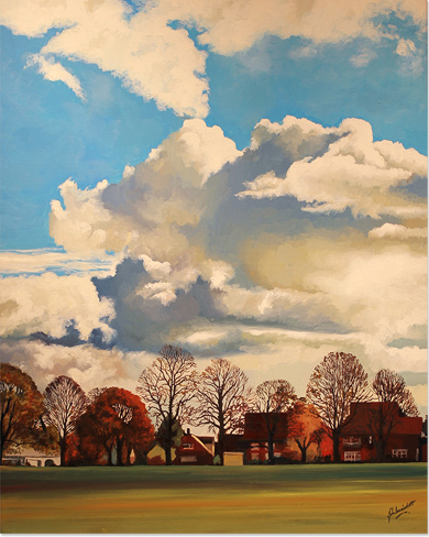 John Luce Lockett, Original oil painting on canvas, Park View Crescent Without frame image. Click to enlarge