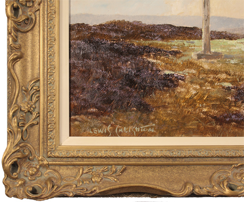 Lewis Creighton, Original oil painting on panel, Young Ralph's Cross, North Yorkshire Signature image. Click to enlarge