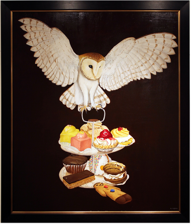 Marie Louise Wrightson, Original oil painting on panel, Flight of Fancy, click to enlarge