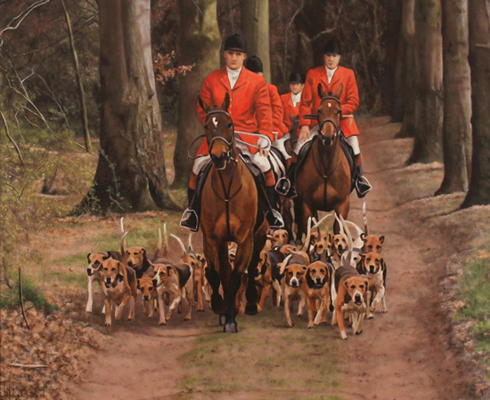 Stephen Park, The Hunt, Original oil painting on panel