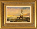 Paul Zander, Original oil painting on panel, Marine Scene Large image. Click to enlarge
