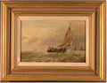 Paul Zander, Original oil painting on panel, Marine Scene