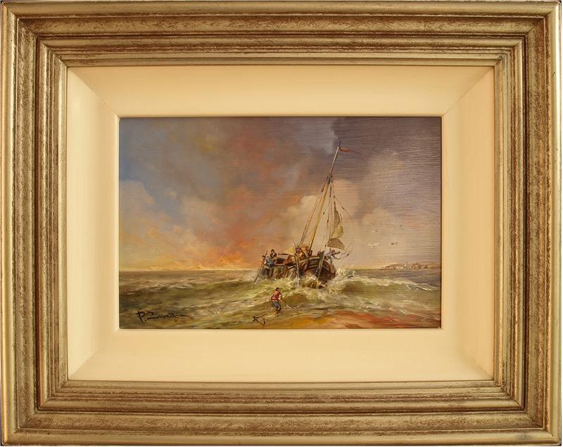 Paul Zander, Original oil painting on canvas, Marine Scene, click to enlarge