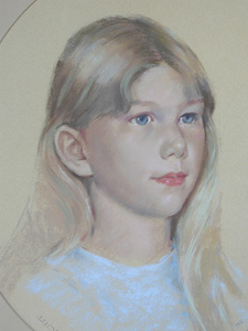 Peter Wardle, Pastel, Lucy, click to enlarge