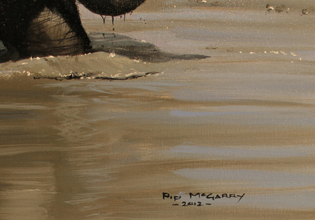 Pip McGarry, Original oil painting on canvas, Playing with Mum 2 Signature image. Click to enlarge