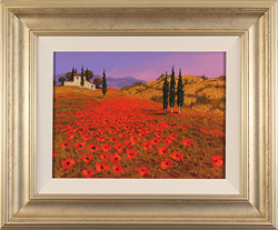Steve Thoms, Original oil painting on panel, Tuscan Fields
