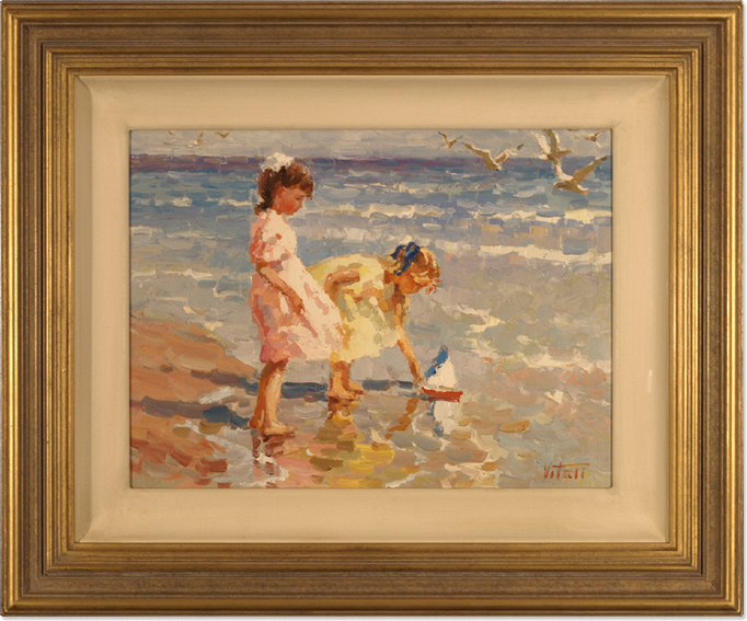Vitali Bondarenko, Original oil painting on canvas, Beach Scene. Click to enlarge