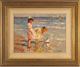 Vitali Bondarenko, Original oil painting on canvas, Beach Scene Large image. Click to enlarge