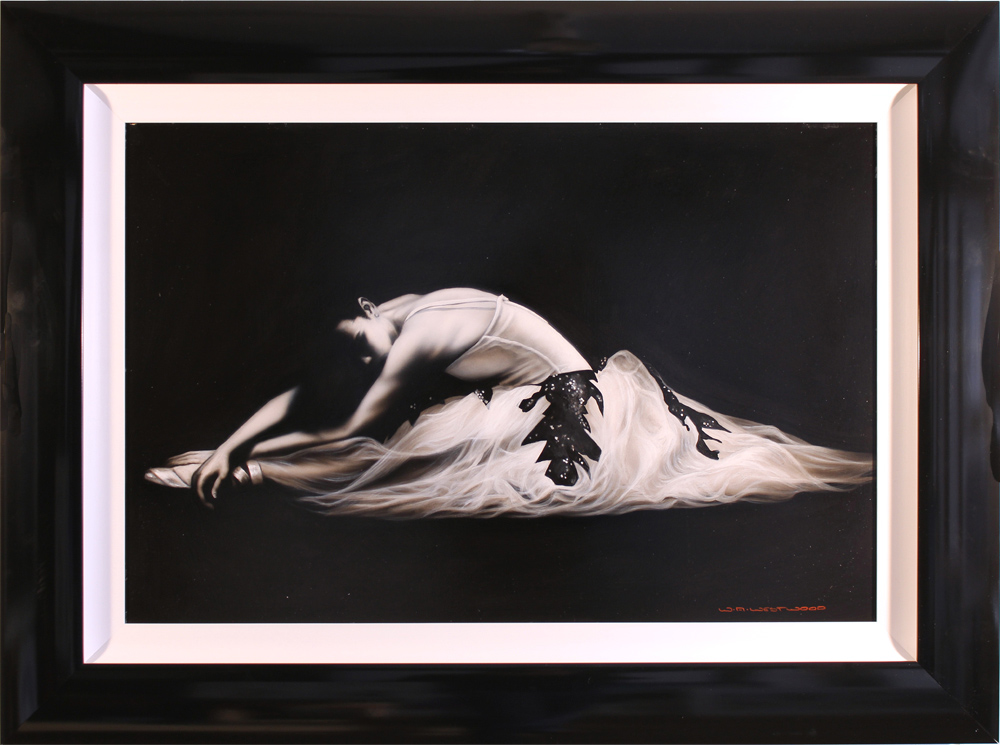 Wayne Westwood, Original oil painting on panel, Ballerina, click to enlarge