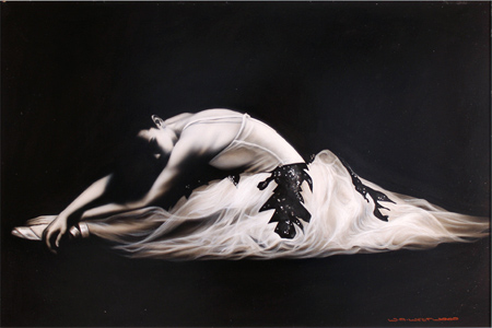Wayne Westwood, Original oil painting on panel, Ballerina Without frame image. Click to enlarge