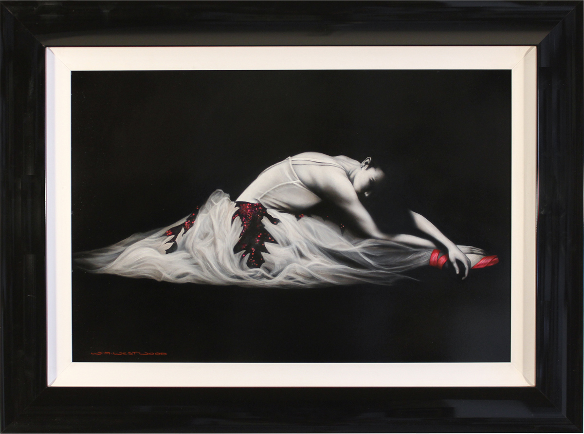 Wayne Westwood, Original oil painting on panel, Ballerina. Click to enlarge