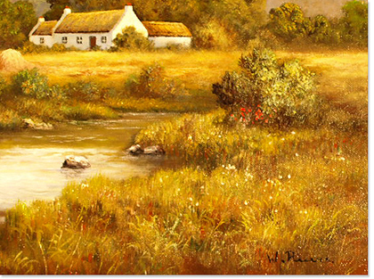 Wendy Reeves, Original acrylic painting on canvas, River Scene Signature image. Click to enlarge