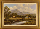 Wendy Reeves, Original acrylic painting on canvas, River Scene Large image. Click to enlarge