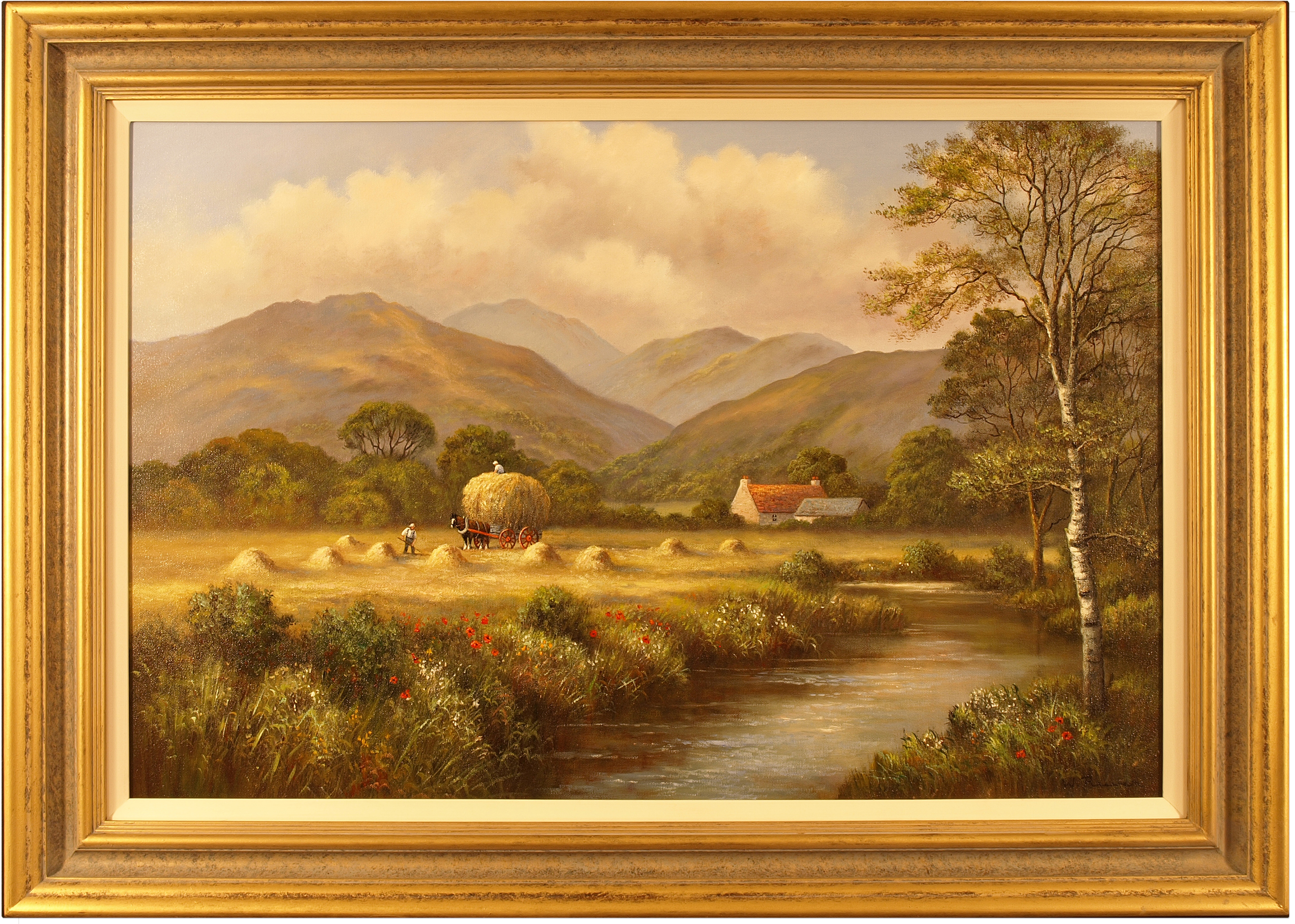 Wendy Reeves, Original oil painting on canvas, Country Scene. Click to enlarge