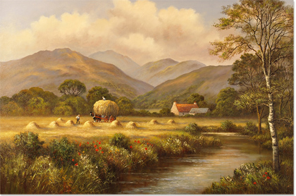 Wendy Reeves, Original oil painting on canvas, Country Scene Without frame image. Click to enlarge