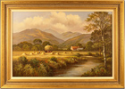 Wendy Reeves, Original oil painting on canvas, Country Scene Large image. Click to enlarge
