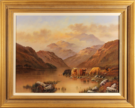 Wendy Reeves, Original oil painting on canvas, Highland Cattle