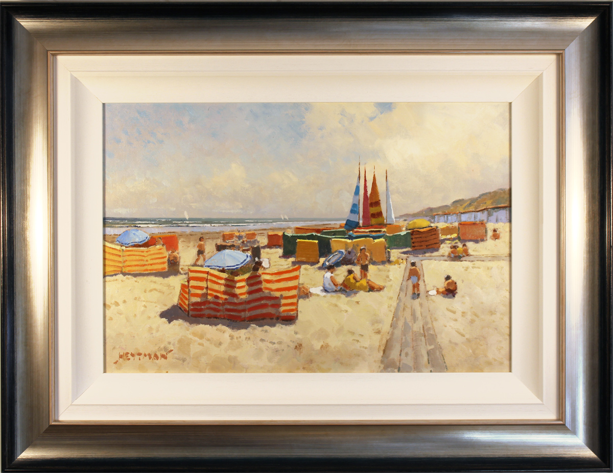 William Heytman, Original oil painting on canvas, A Day at the Beach. Click to enlarge