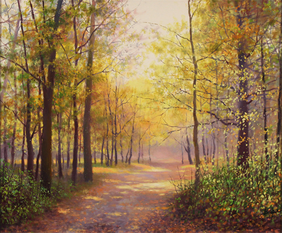 Alan Barker, Original oil painting on canvas, Dappled Light Without frame image. Click to enlarge