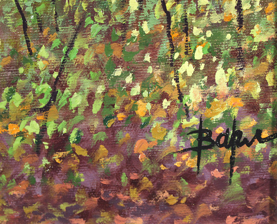 Alan Barker, Original oil painting on canvas, Dappled Light Signature image. Click to enlarge