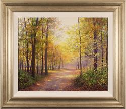 Alan Barker, Original oil painting on canvas, Dappled Light Large image. Click to enlarge