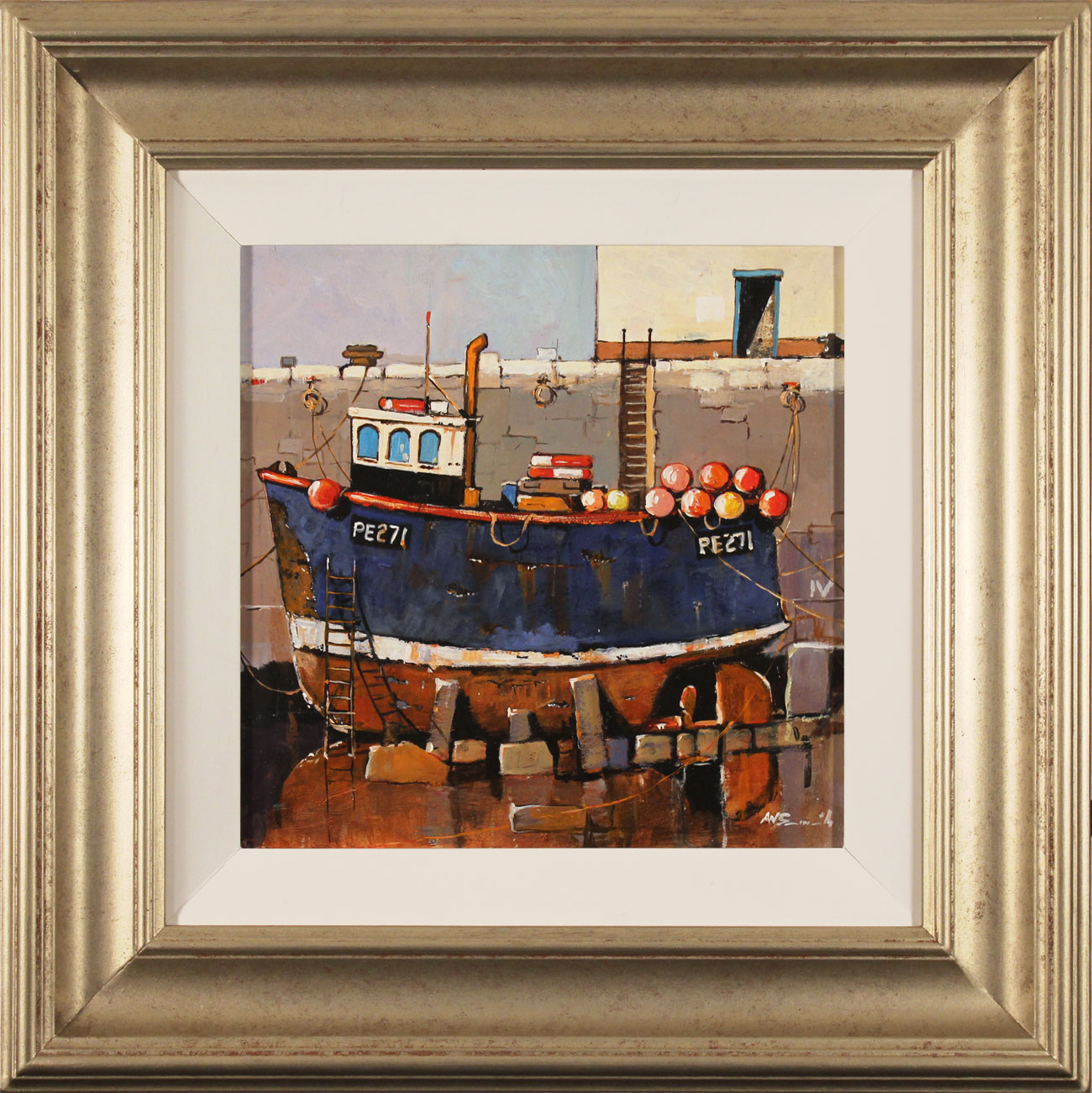 Alan Smith, Original oil painting on panel, Rusty Blue, click to enlarge