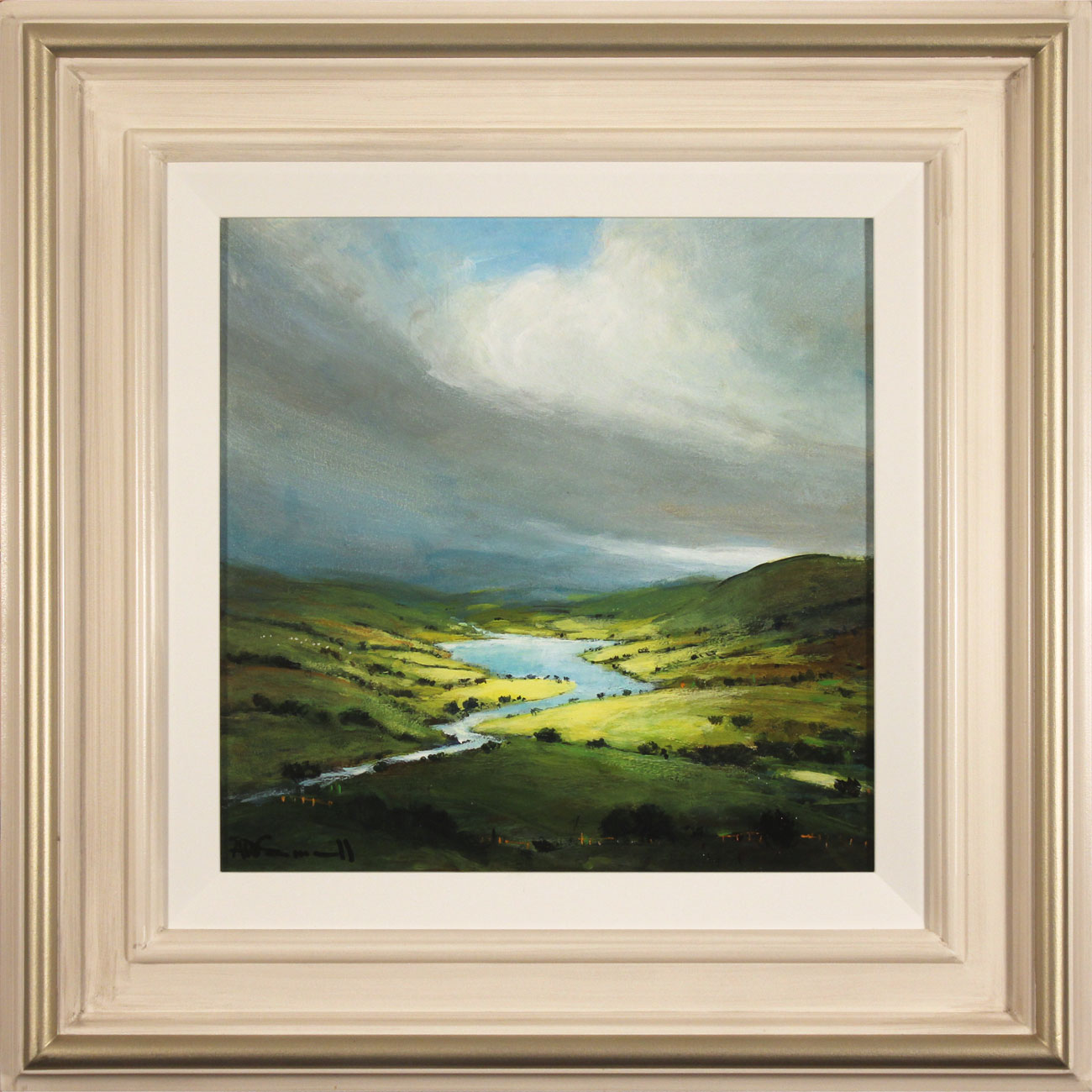 Alan Smith, Original oil painting on panel, Golden Light, The Lake District . Click to enlarge