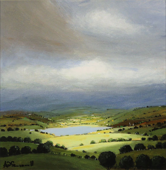 Alan Smith, Original oil painting on panel, Deep in the Valley, The Lake District No frame image. Click to enlarge